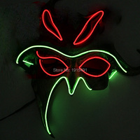 더블 색상 혼합 Bulksale 조명 전구 밤 램프 형광 댄스 성능 엘 차가운 빛 익명 마스크 의해 DC3V 드라이브