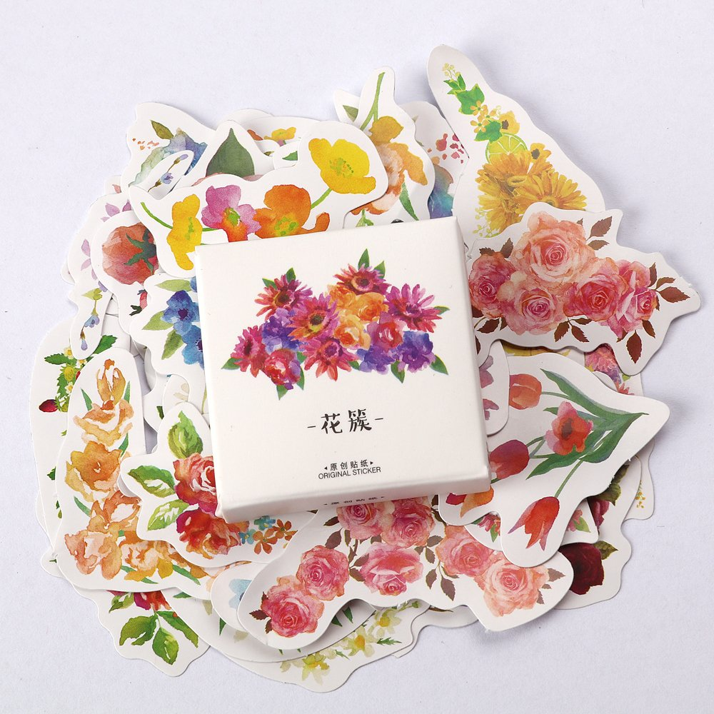 45 Pcs/pack Spring Blossom Label Stickers Decorative Stationery Stickers Scrapbooking DIY Diary Album Stick Label