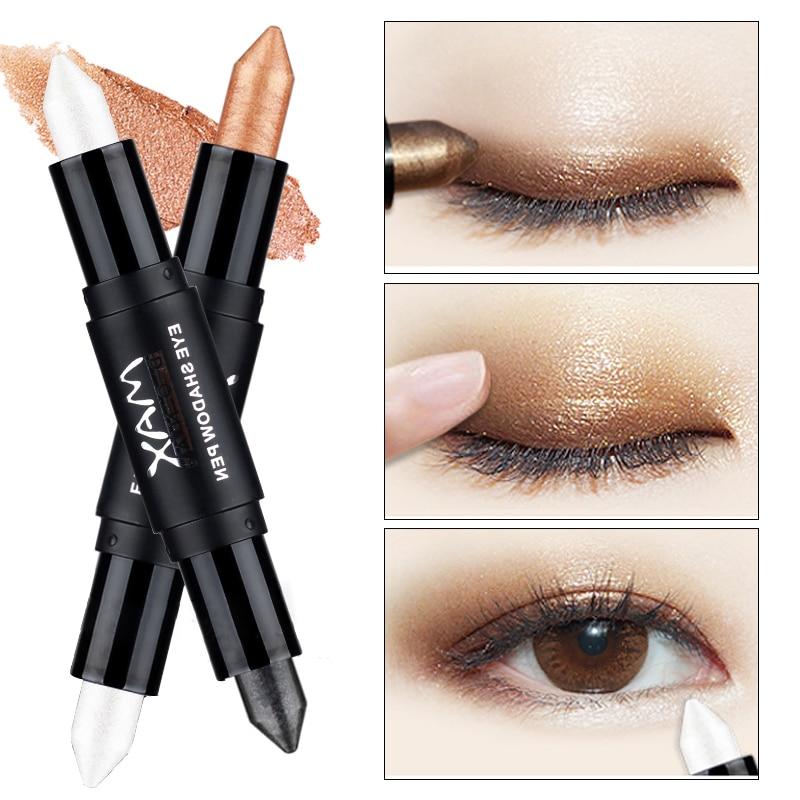 Новые популярные двухконцевые мерцающие карандаши для век для женщин, глаза для лица, осветляющие белые блестящие хайлайтеры, тени для век, макияж shimmer eyeshadow eye shadowmake up   АлиЭкспресс