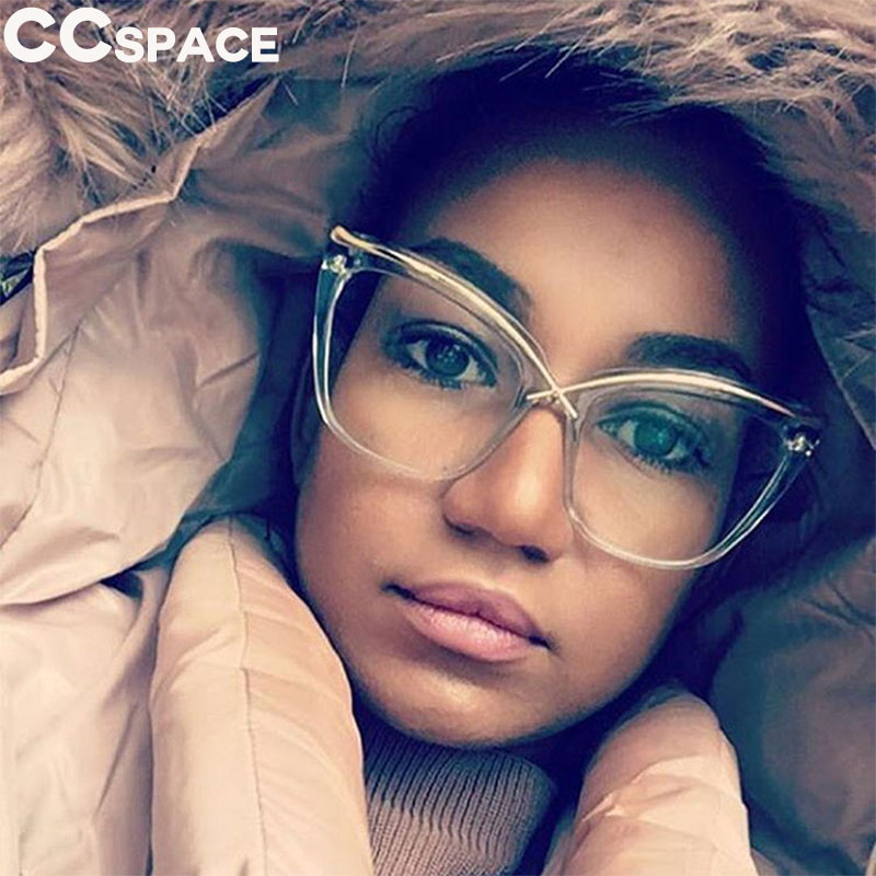 45124 Ladies Unique Cat Eye Glasses Frames Women Brow Line Metal Designer Optical EyeGlasses Fashion Eyewear
