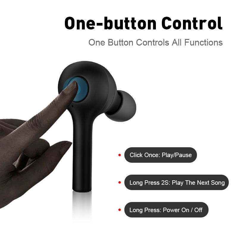 m&j new tws mini bluetooth earphones and sports earbuds with bluetooth 5.0