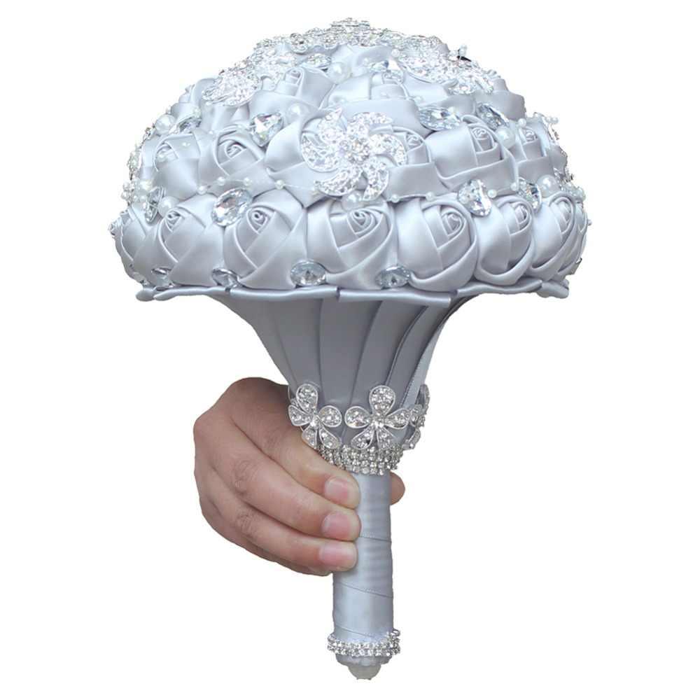 Wifelai-Perak Bros Pernikahan Mariage Bridalbuket Pearl Bunga Buque De Noiva Pabrik dan Toko Kualitas Terbaik PL0012-T