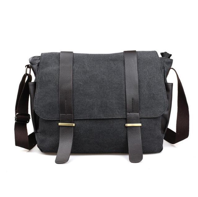 f036cb5d2 Designer Briefcase Men Messenger Bags Vintage Canvas Shoulder Bag Mens  Buisness Bag Attache 14 inch Laptop Case Office Briefcase