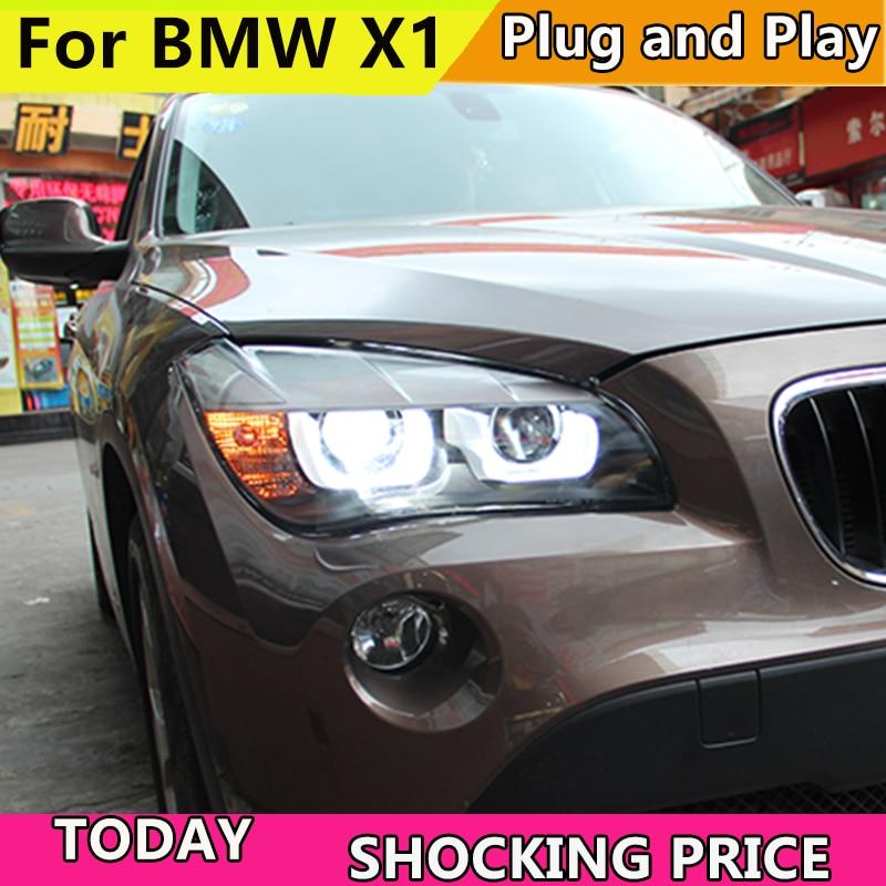 Phare de voiture style LED pour BMW E84 phares X1 phare LED 120 125 phare à œil d'ange BI accessoires avant xénon
