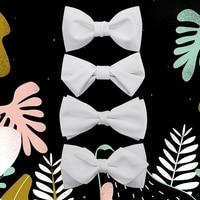 JEMYGINS Poliestere Solido Bianco Monostrato Multipiano Novità Degli Uomini di Modo Nuovo Papillon Gentleman Style Pocket Piazza della Festa Nuziale