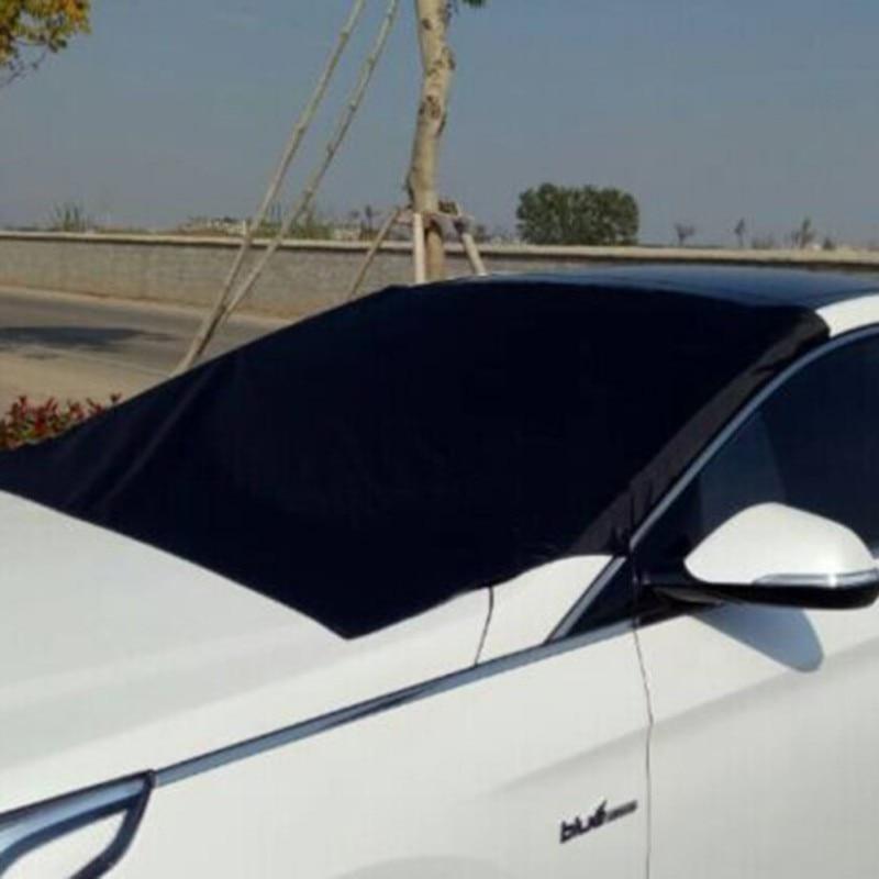 Auto Magnet Windschutzscheibe Abdeckung Schneedecke Sonnenschirm Eis Schnee Frost Protector Windschutzscheibe Silber Schwarz Abdeckung