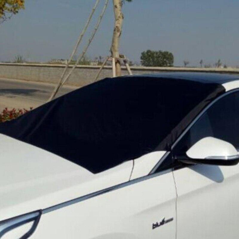 Cubierta del parabrisas del imán del coche cubierta de la nieve Protector del hielo de la nieve Protector del parabrisas cubierta negra de plata
