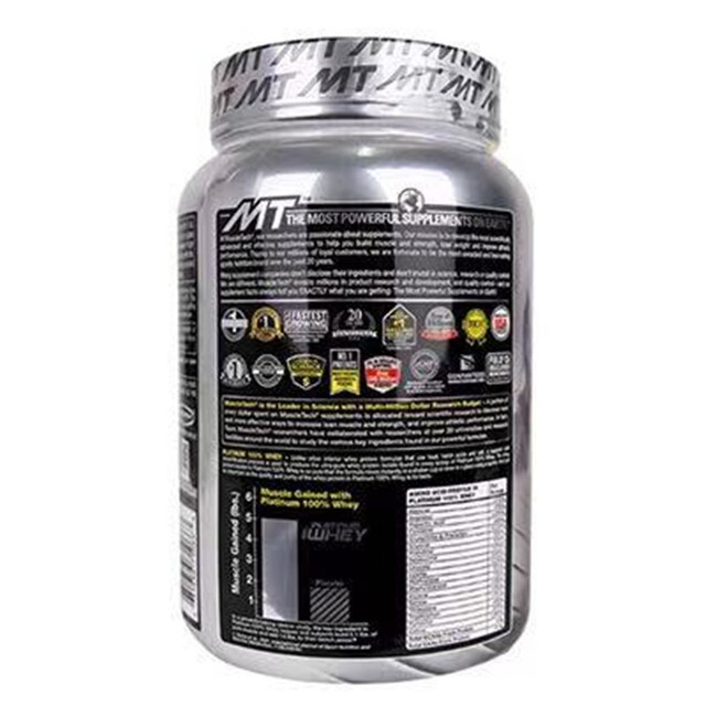 US imported Muscletech muscle technology platinum whey protein powder fitness tonic muscle powder 1 pound  4