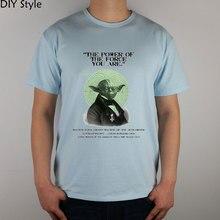 power of FORCE science fiction STAR WARS YODA  MOVIE  T-shirt Fashion Brand t shirt men new high quality