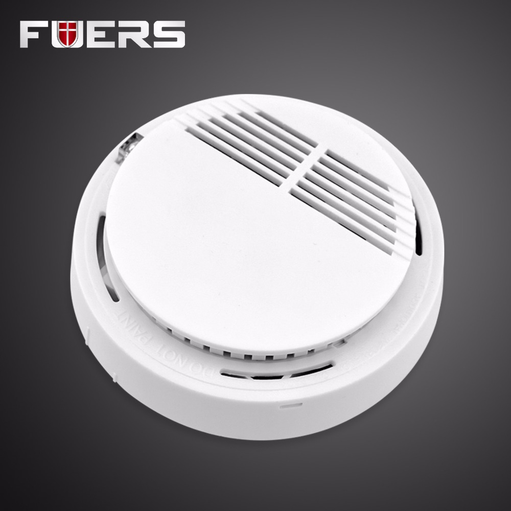 High Sensitive Photoelectric Home Security System Wireless Smoke/Fire Detector Sensor For GSM/PSTN Security Alarm Systems 433MHz wireless smoke fire detector for wireless for touch keypad panel wifi gsm home security burglar voice alarm system