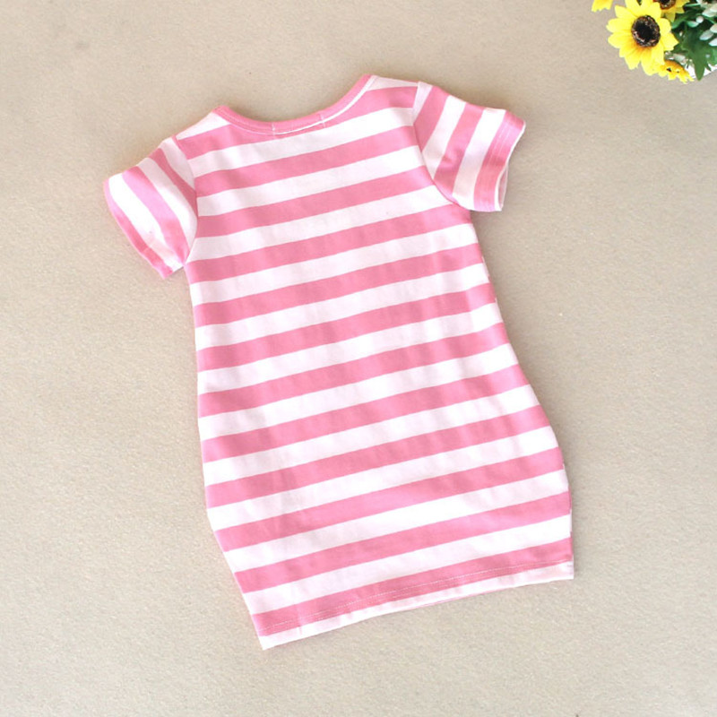 Malayu-Baby-2016-latest-summer-girls-striped-dress-children-cartoon-Donald-Duck-the-two-sides-in-my-pocket-dress-2-7-years-A122-4