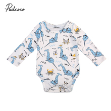 Pudcoco Cute Newborn Baby Boy Girls Clothes Bodysuit Long Sleeve Jumpsuit Long Sleeve Clothes Outfits Baby Clothing