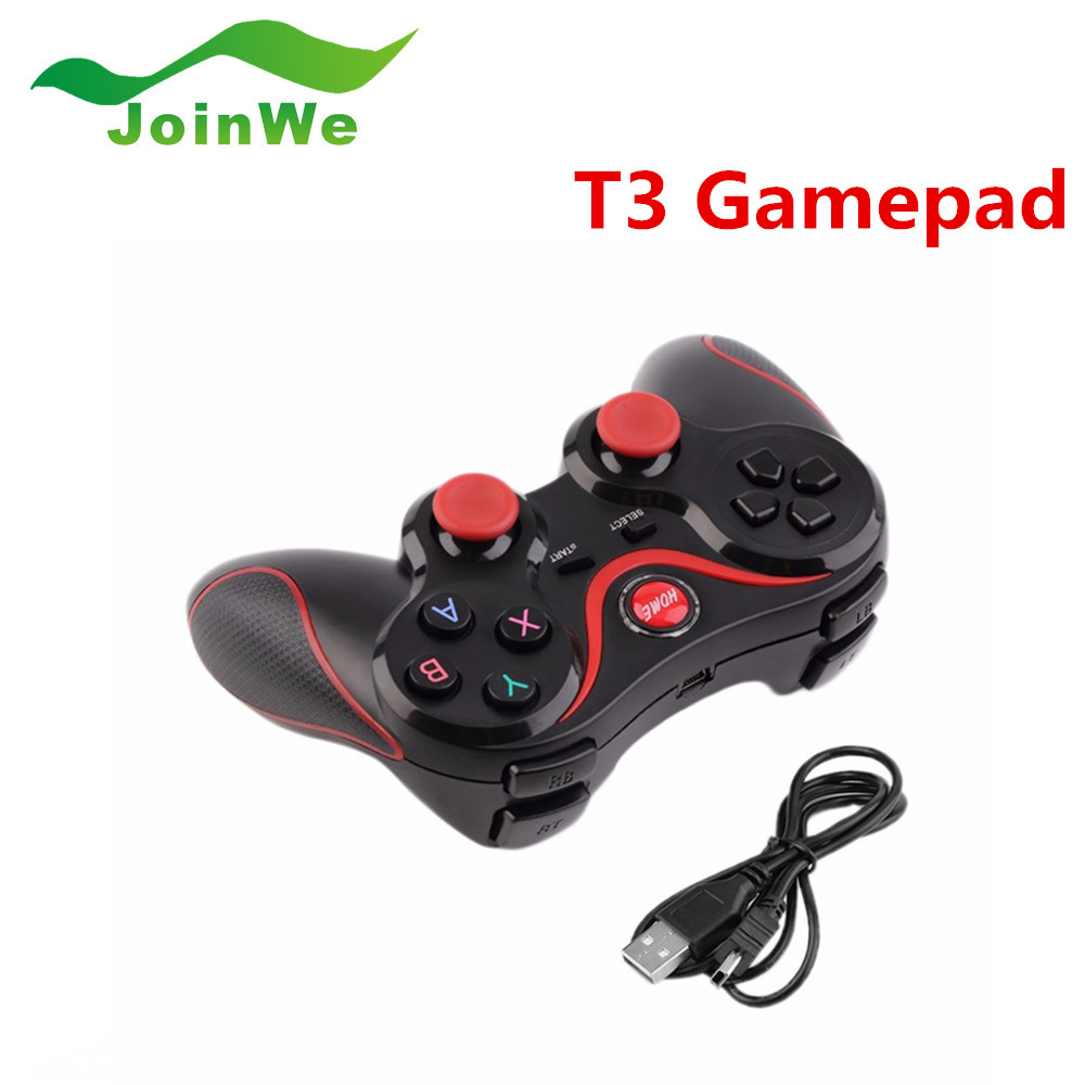T3 Bluetooth Wireless Gamepad Game Controller Joystick for Android Smartphone Tablet PC TV BOX 3D Glasses