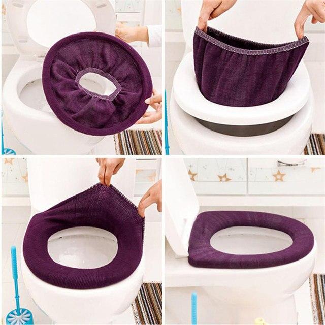 ISHOWTIENDA ciepłe miękkie pokrycie wc pokrycie nakładka na muszlę Pad łazienka Closestool Protector akcesoria łazienkowe zestaw deska klozetowa pokrywa mata