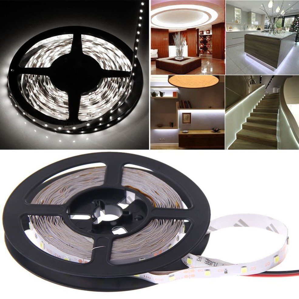 10 PCS 5M 16ft 3528 SMD RGB 300 LEDs Flexible Light LED Sticky Strip 12V Lamp waterproof 300 3528 smd led rgb flexible strip w 24 key controller 12v 5m