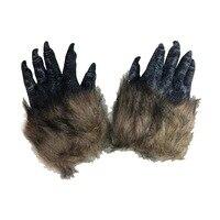 ハロウィンハロウィンホラー狼手袋ウルフ爪セット毛深い獣ウルフ爪手袋ブラックウルフ手袋手袋シミュレーション