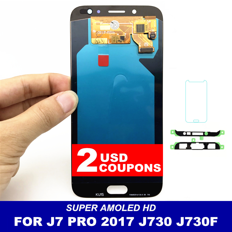 Mobile Phone LCDs Replacement For Samsung Galaxy J7 Pro 2017 J730 AMOLED LCD Screen Display Touch Digitizer Bright AdjustmentMobile Phone LCDs Replacement For Samsung Galaxy J7 Pro 2017 J730 AMOLED LCD Screen Display Touch Digitizer Bright Adjustment