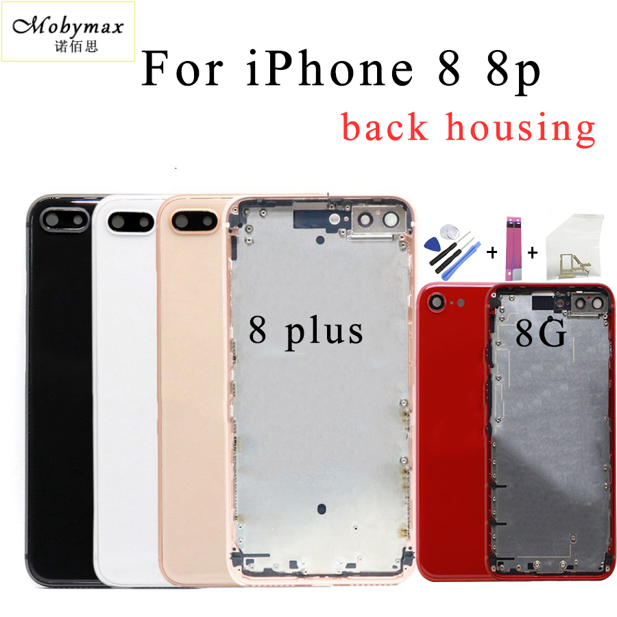 Case Housing Battery-Cover Back-Glass Traser iPhone Chassis Apart-Frame 8-Plus for Rear