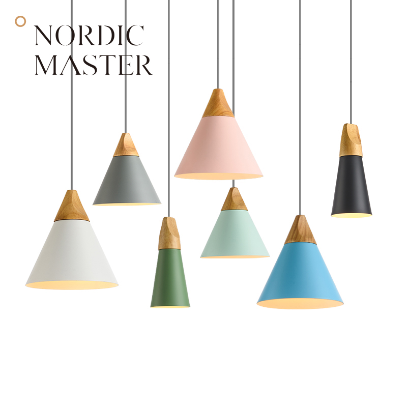 Nordic Master 7 Colors Modern Pendant Lights for Dining Room Loft Kitchen Simple Ceiling Pendant Lamps 60131S