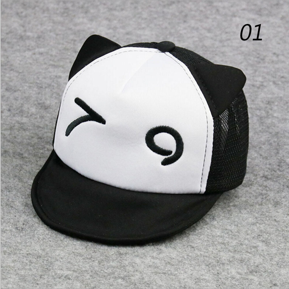1pcs Kids Hats Baby Boy Baseball Cap White Black Cartoon style Baby With  Bonnet Cotton Cap 5190b457bc0