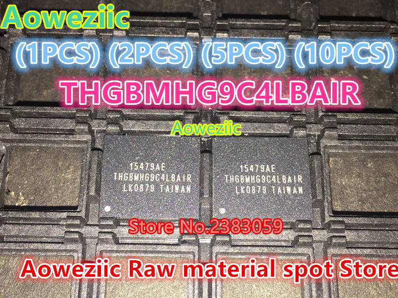 Aoweziic (1PCS) (2PCS) (5PCS) (10PCS)  100% new original    THGBMHG9C4LBAIR  BGA   Memory chip   64G new 10 1