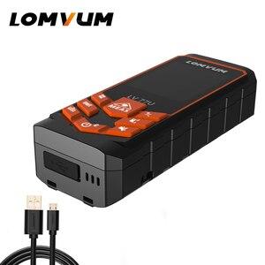 Image 2 - LOMVUM de carga USB 77U mano Trena telémetro láser Digital láser metro de distancia eléctrica de la cinta de medición de herramientas 40 M  120 M