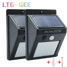 20 30 LED Solar Light Outdoor Lamp PIR Motion Sensor Panel Night Security Wall Garden Yard Path Waterproof