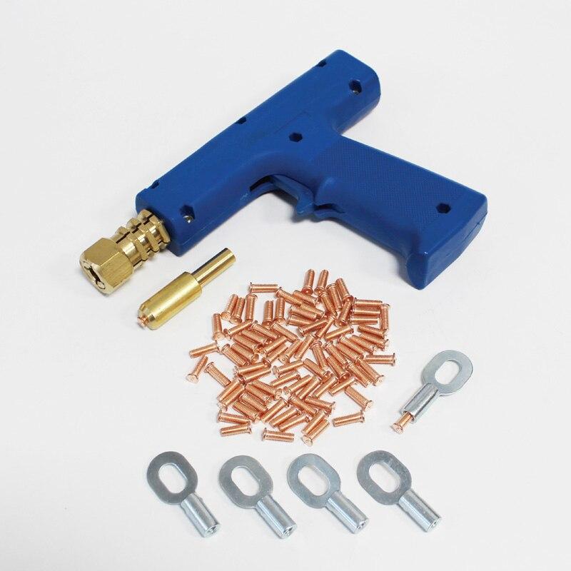 Outils de réparation de voiture pour kit d'extracteur de réparation de dent de carrosserie auto vis de soudage par points électrode support de serrage soudeur pistolet CD goujons spotter