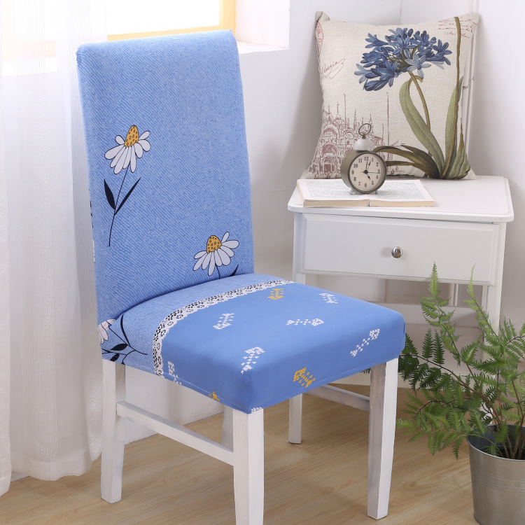 Spandex Polyester Stretch Chair Covers Floral Printing Seat Cove Wedding Removable Chair Slipcover Decor