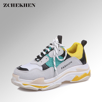 Spring Summer Casual Mesh Shoes Lovers Flat Shoes Lace Up Breathable Footwear Female Vintage Sneaker Trainers