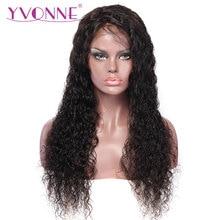 YVONNE גלים גל מים טבעי צבע טבעי ברזילאית הבתולה חזית חזית האדם שיער עם פאות שיער בייבי