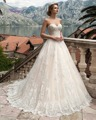 Dreagel Romantic Strapless Lace Up  A-line Wedding Dress 2017 New Arrival Delicate Lace Appliques Wedding Gown Vestido de Noiva