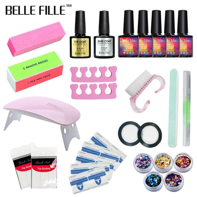 Belle Fille Set Dryer Nail Gel Polish Soak Off Manicure Products ...