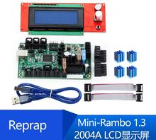 Reprap Mini-Rambo 1.3+2004A LCD display motherboard Suitefor 3D printer недорго, оригинальная цена