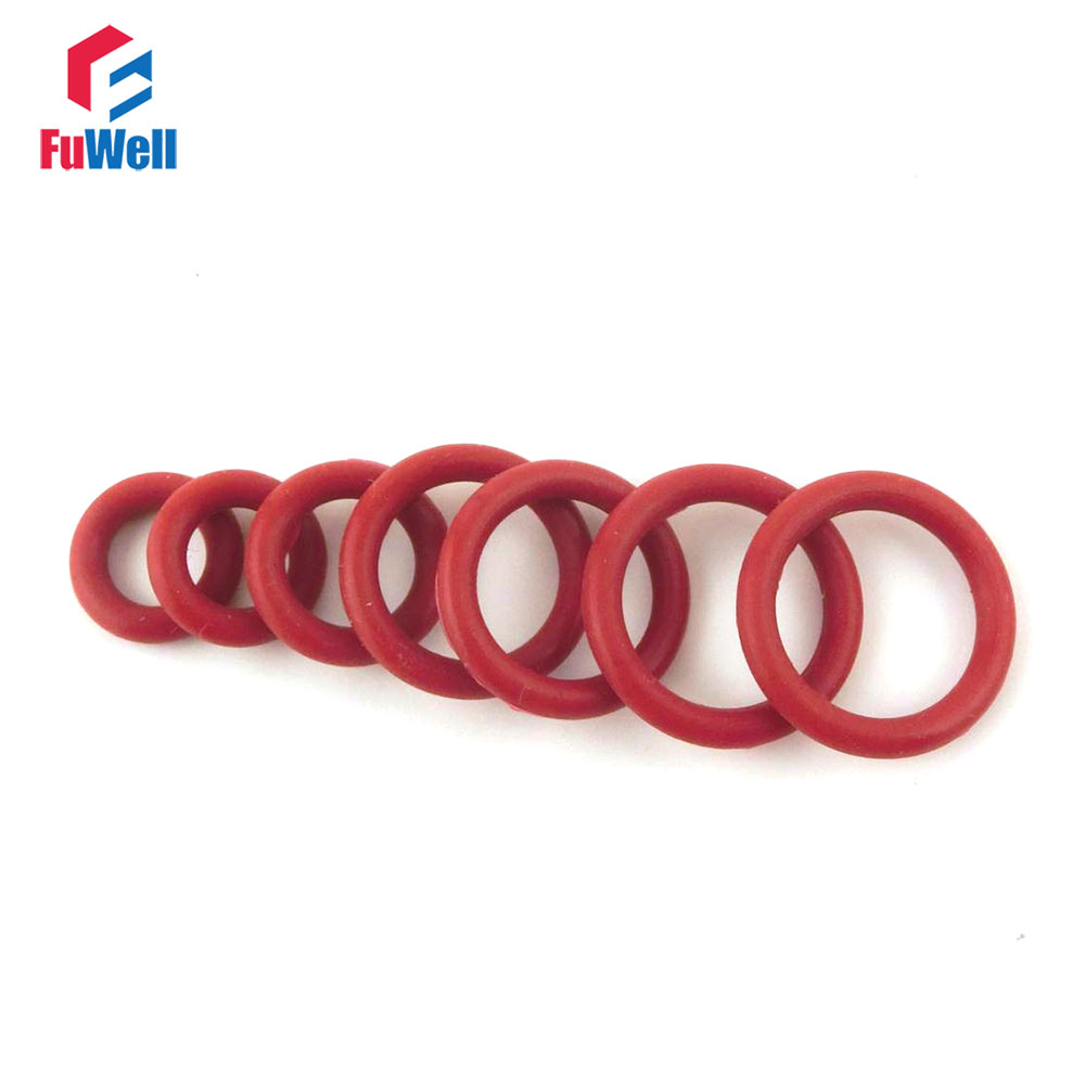 US Stock 100x 22mm OD 20mm ID 1mm Dia Food Grade Silicone Rubber Seal O-Ring Red