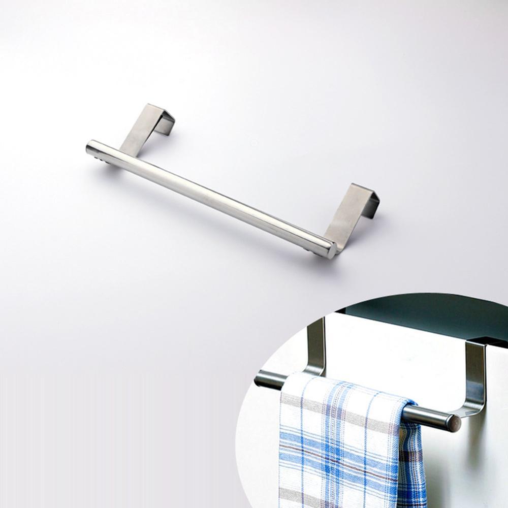 new stainless steel over door hook towel bar rack holder kitchen hanging storage rail drawer cupboard