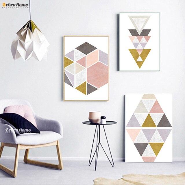 aliexpress.com : acquista arte stampe geometriche stile nordico ... - Soggiorno Nordico