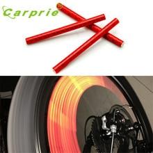 AUTO 12pcs Bicycle Wheel Reflective Strip Clip Tube Car Tire Valve Caps Auto Truck Motocycle Bike Spoke Reflector car-stylijan18
