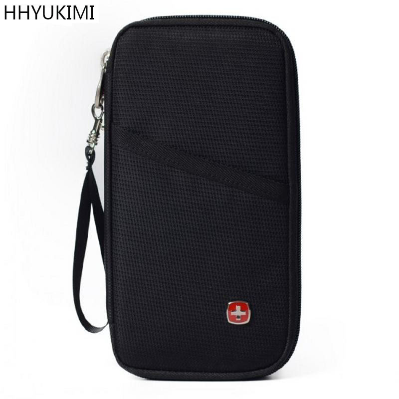 HHYUKIMI Travel Passport Cover Wallet Travelus Multifunction Credit Card Package ID Holder Storage Organizer Clutch Money Bag neck hanging travel accessory passport cover wallet credit id card holder air tickets package case unisex storage organizer bag