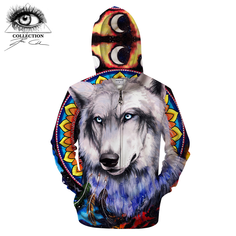 Wolf galaxy By Pixie coldArts Skull 3D Print Hoodies Men Women Anime Sweatshirt Tracksuit Pullover Jacket Coat Zipper DropShip