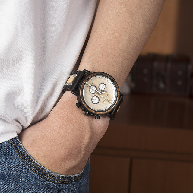 Men's Mechanical Wooden Watch