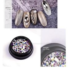 1box Nail Crystal Stones 3*6mm Flatback For Nails Art Decorations MIX Size 100pcs Charm Stone Gems DIY Manicure ZR03