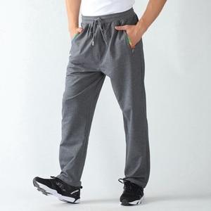 Image 5 - אביב גברים ספורט מכנסי טרנינג בתוספת גודל גדול 6XL 7XL 8XL 9XL גבר שחור מכנסיים למתוח מכנסיים מותני אלסטי ישר מכנסיים