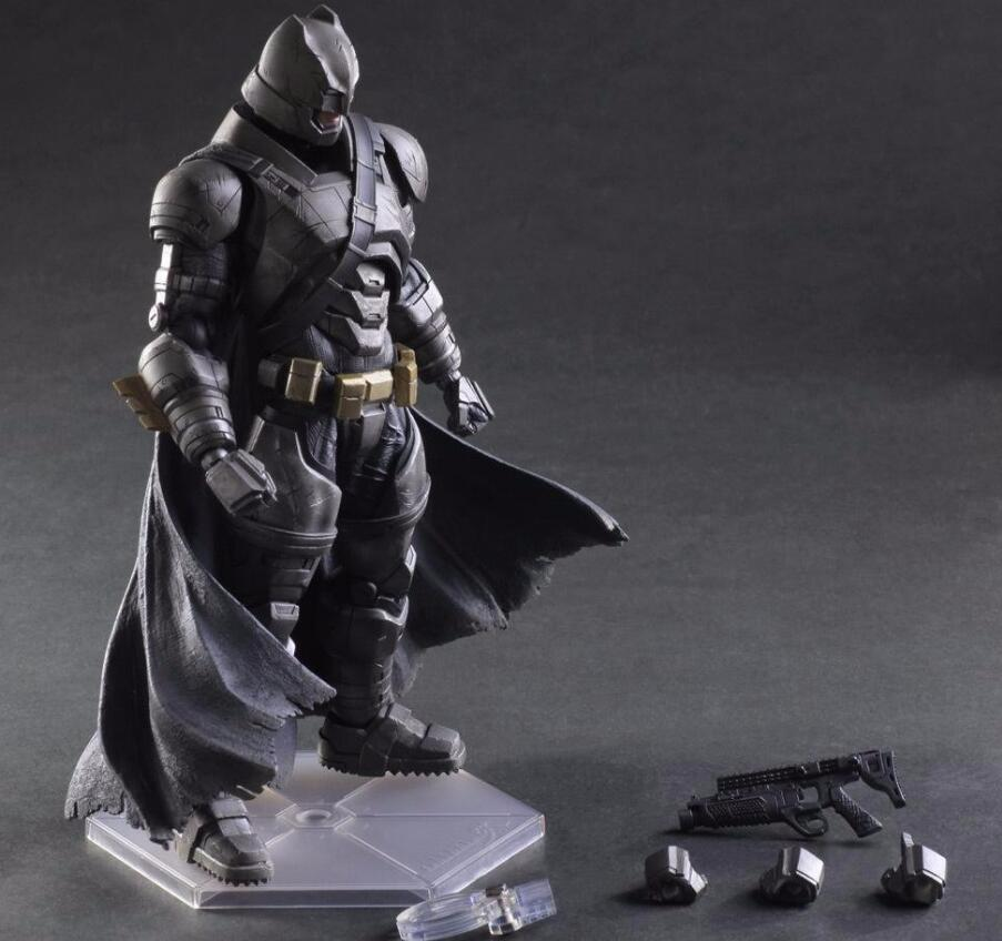 BatMan Action Figure Play Arts Batman v Superman Dawn of Justice PVC Figure Toy 250MM Anime Movie Heavily-armored Playarts PA14 play arts kai batman v superman dawn of justice no 3 armored batman pvc action figure collectible model toy 25cm