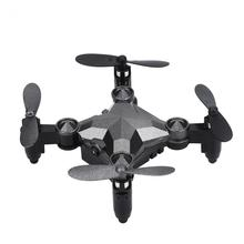 Foldable RC Quadcopter Watch Style Remote Control Drone Wifi FPV with 0.3MP Camera Gravity Sensing Control Headless Mode Drone