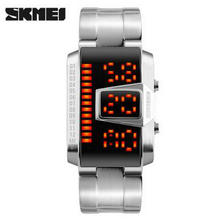 NEW SKMEI Top Brand Luxury Men Digital Watches Fashion Casual Sports Watch LED Display Waterproof Alloy Strap Man Wristwatches