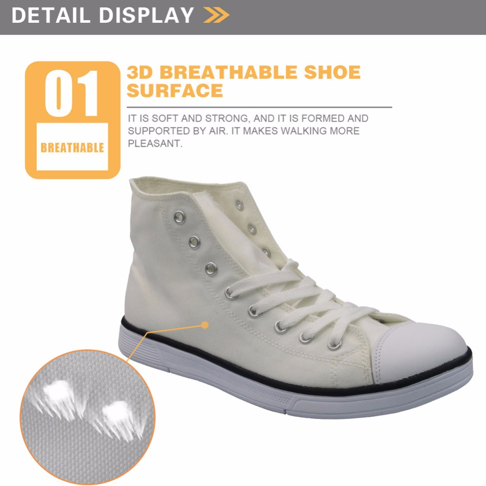 FORUDESIGNS Men's Vulcanized Shoes Classic High Top Teen Boys Flats - Men's Shoes - Photo 3