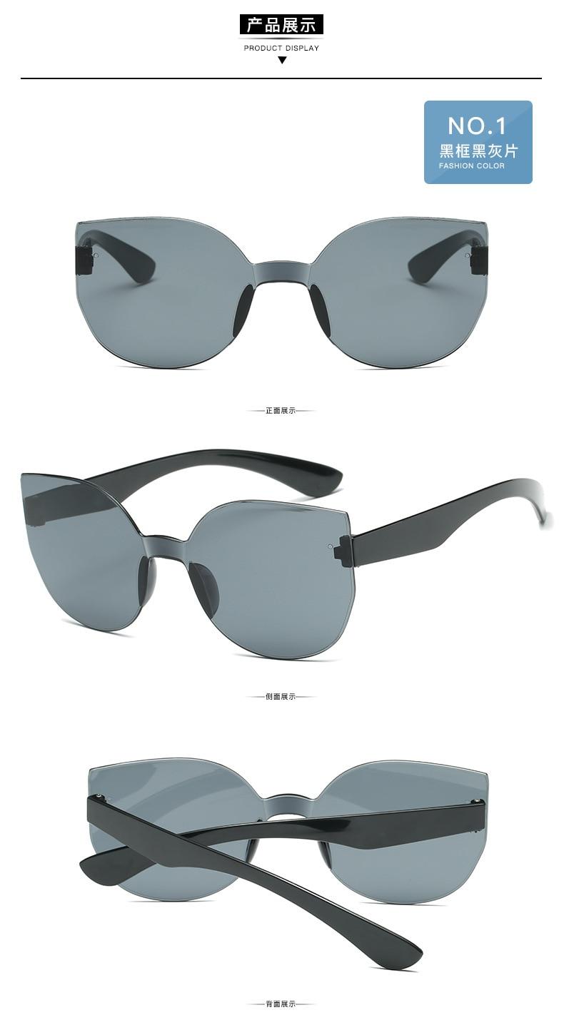 UCOOL 2018 Fashion Square Rimless Sunglasses Women Vintage Brand Designer Coating Sun Glasses UV400 (2)