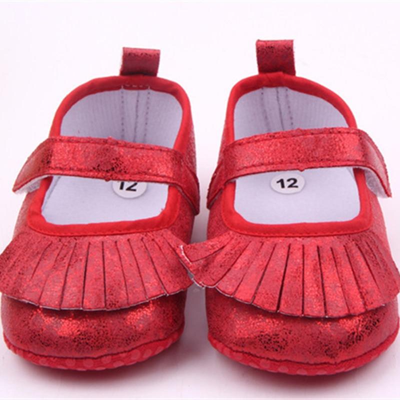 Kids Newborn Toddler Girl Summer Soft Sole Baby Shoes Prewalker Sequins Bling Tassels Infant Walker Princess Shoes 0-18M
