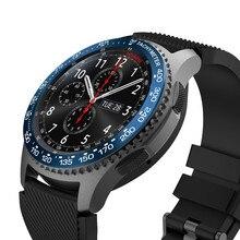 Модные часы украшение для samsung gear S3 Frontier Масштабные часы кольцо клейкая крышка против царапин металл прочный высокого класса подарки